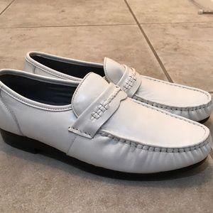 Irvine Park Mens Size 10 white Leather shoes